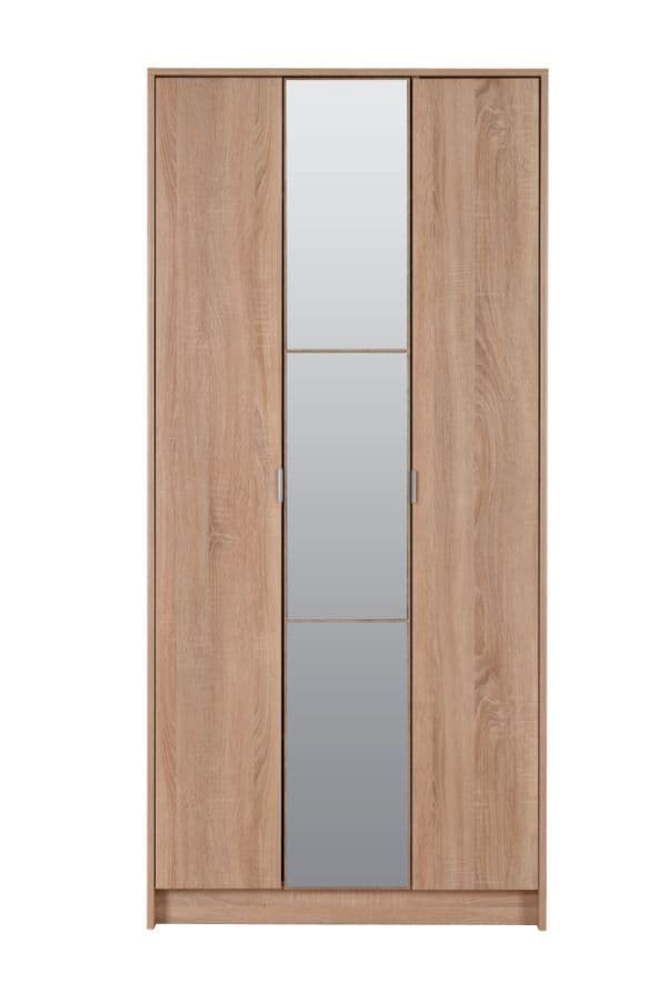 Kapri Oak Slim 3 Door Shallow Depth Wardrobe for Small Spaces